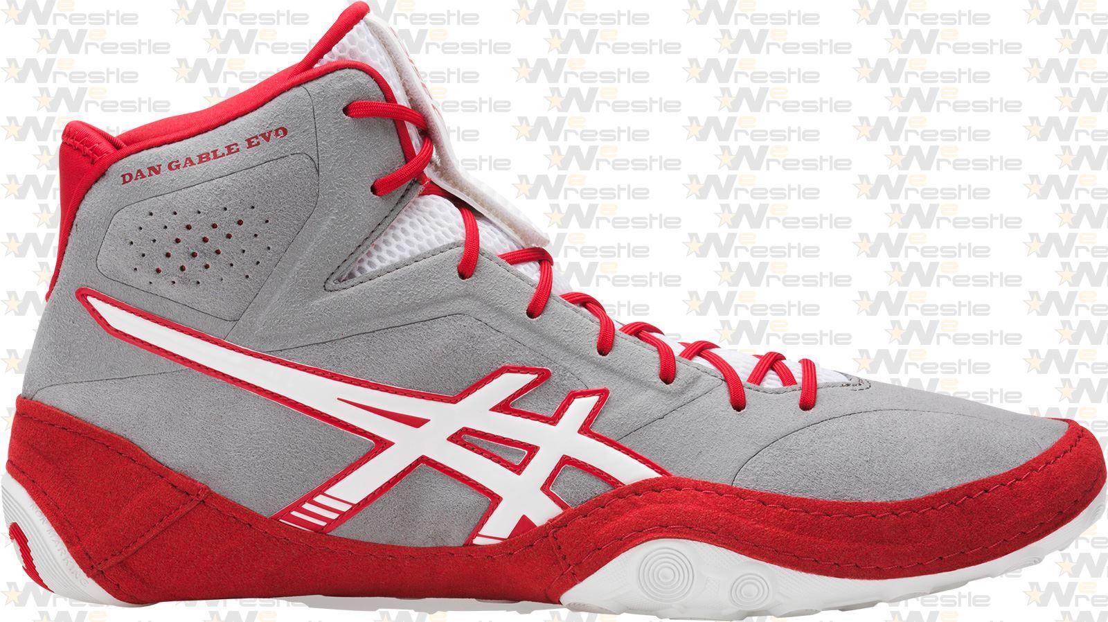 ASICS Dan Gable EVO Wrestling Shoes Red