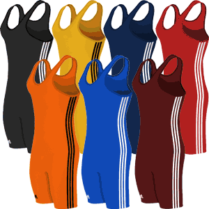 adidas 3-Stripe Wrestling Singlet - Available in 7 Colors