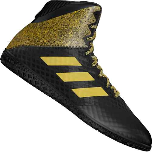 adidas Mat Wizard Hype Wrestlings Shoes - Black w. Gold