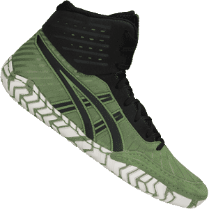 Asics Aggressor 4 Wrestling Shoes - Green