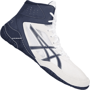 Asics Cael V8.0 Wrestling Shoes - White / Indigo Blue