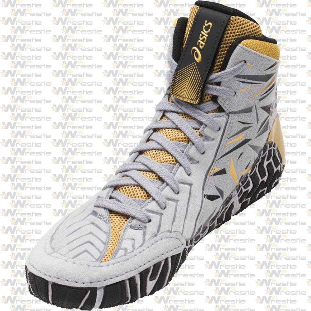 cece7bd37c9d ... Asics Aggressor 3 Adeline Gray Wrestling Shoes - Lace Cover Garage ...