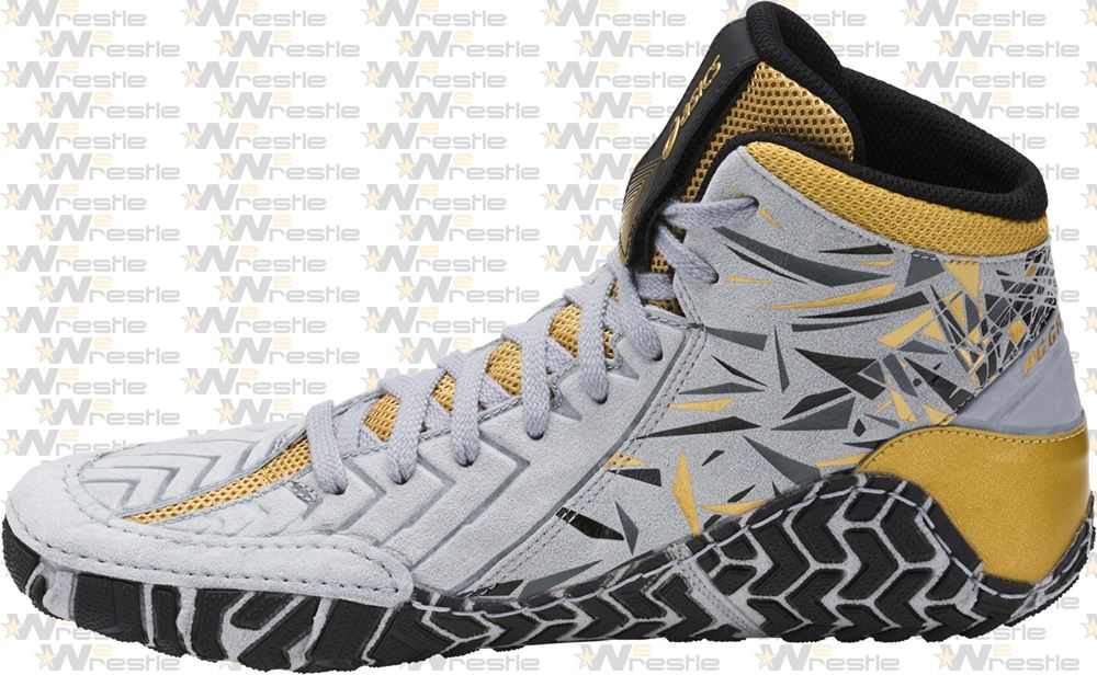 847ba6d6ebf6 Asics Aggressor Adeline Gray Wrestling Shoes - Medial Wrap ...
