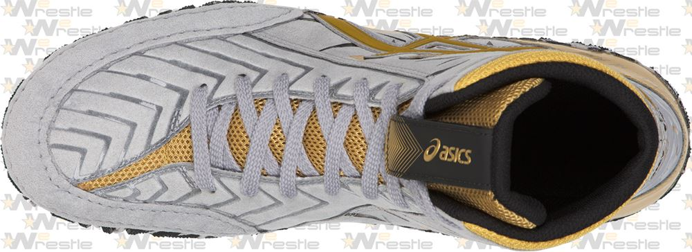 1774fa57fb96 Asics Aggressor Adeline Gray Wrestling Shoes - Medial Wrap  Asics Aggressor  3 AG Wrestling Shoes - Reinforced Synthetic Suede Toe ...