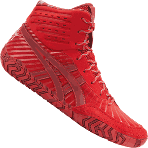 ASICS Aggressor 4 LE Wrestling Shoes - Classic Red