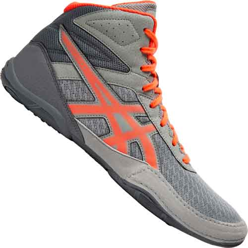 Asics Matflex 6 Wrestling Shoes - Gray Orange